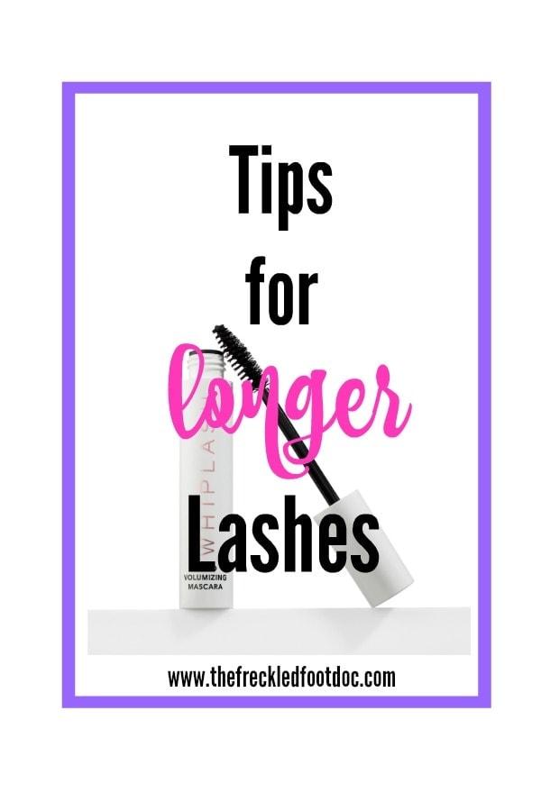 tips for longer lashes, mascara