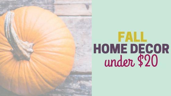 Cheap Fall Home Decor under $20