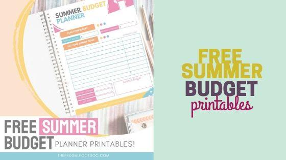 Free Summer Budget Planner Template