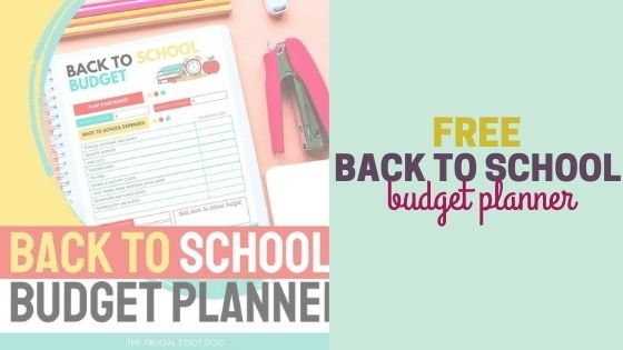 Free Back to School Budget Planner + Budgeting Tips