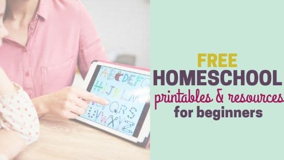 Free Homeschool Printables and Resources for Beginners