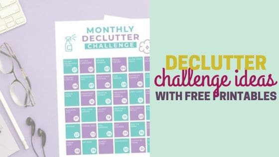 16 Decluttering Challenges with Free Printables