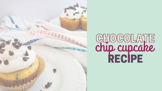 Easy Chocolate Chip Cupcake Recipe with Box Cake Mix