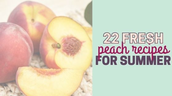 22 Easy Fresh Peach Recipes To Try This Summer