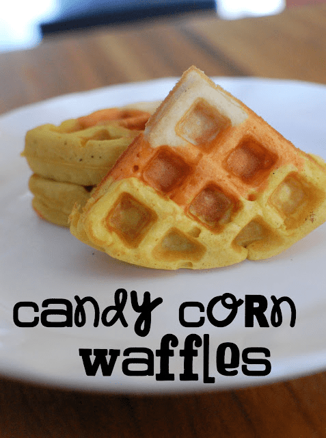 triangle waffle pieces with layered yellow, orange, and white sections