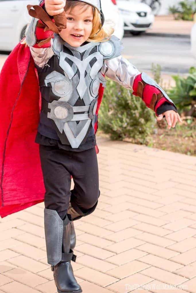 Homemade Thor Halloween Costume