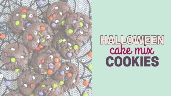 Chocolate Monster Cake Mix Easy Halloween Cookie Recipe