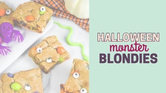 Easy Halloween Blondies Recipe with M&M's Ghouls Mix