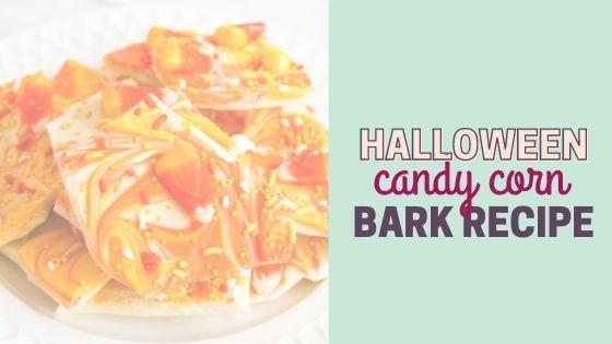 How to Make Easy Candy Corn White Chocolate Bark Recipe for Halloween Treats
