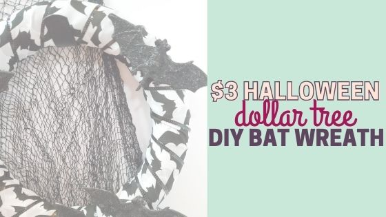Easy $3 Dollar Tree DIY Halloween Bat Wreath