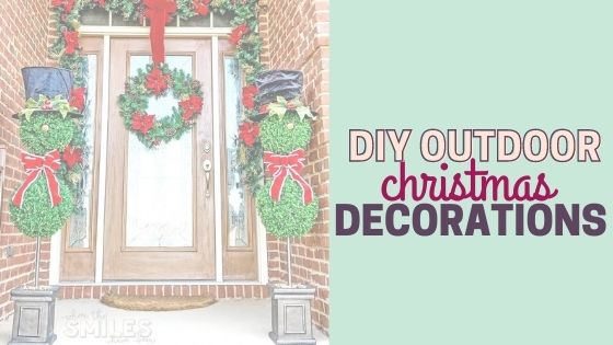 How to Decorate Outdoors for Christmas on a Budget: Cheap & Easy DIY Outdoor Christmas Decorations