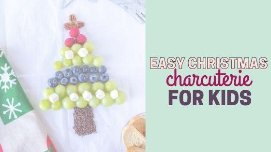 Easy Christmas Tree Charcuterie Food Board Tutorial