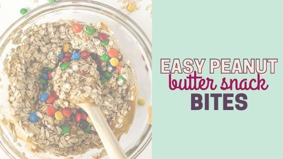 Easy Stick Together Peanut Butter Snack Bites with M&M's