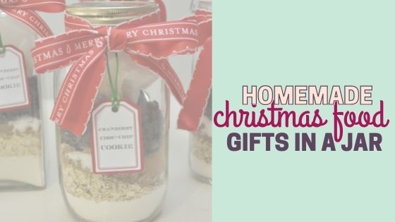 Homemade Christmas Food Gifts in a Jar with Free Printable Tags