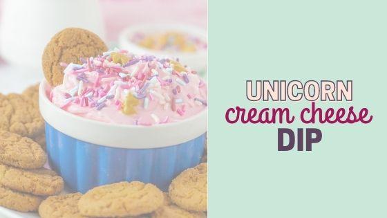 Easy Unicorn Dip | Light & Fluffy Cream Cheese Dip